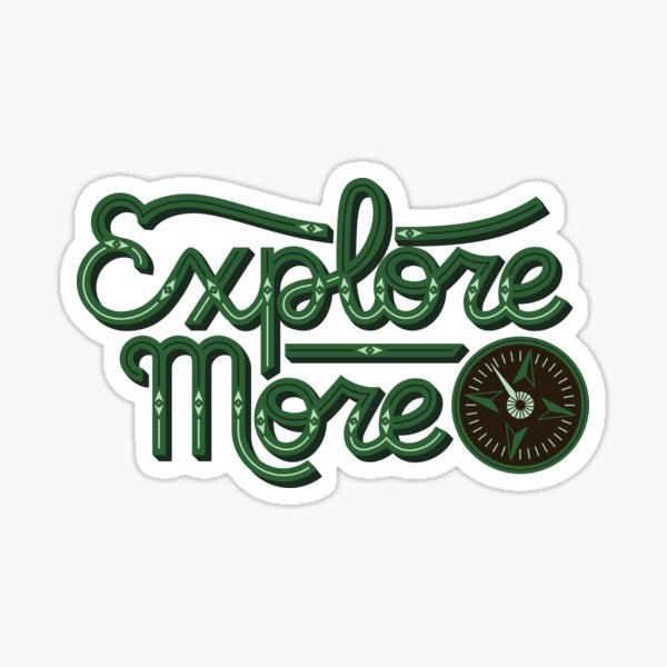Explore More Sticker