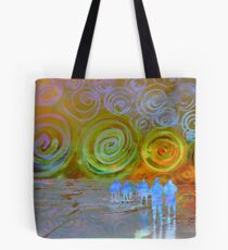 Spiral Sea and Heaven Tote Bag