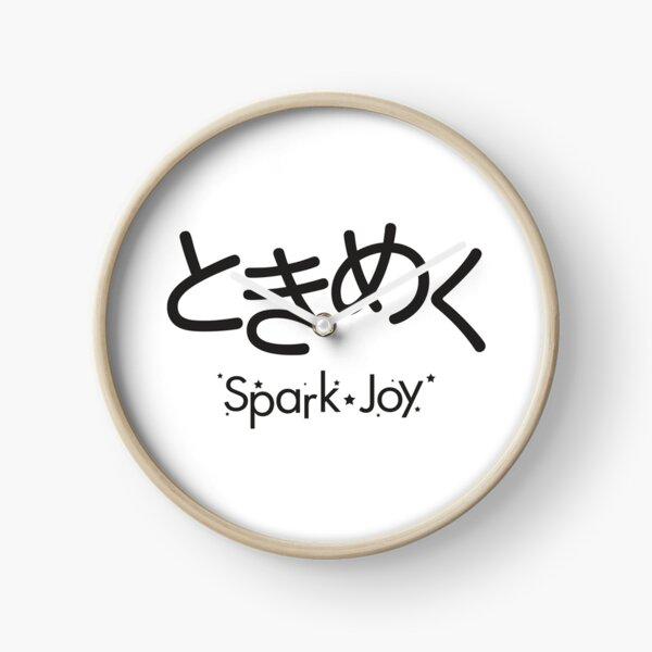 Tokimeku (Spark of Joy) - Black Typography version Clock