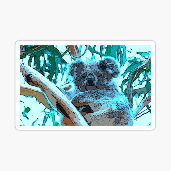 Sleepyhead koala Sticker