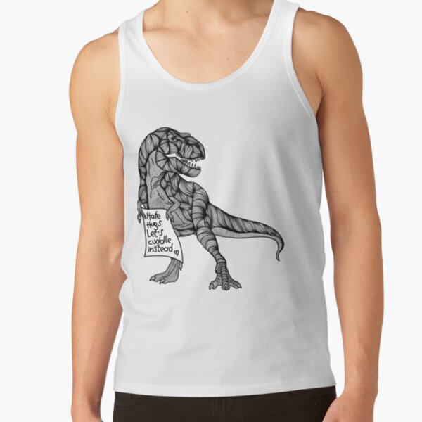 T-Rex hates hugs Tank Top