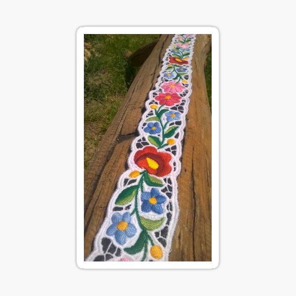 Hand Embroidered Hungarian Belt Sticker