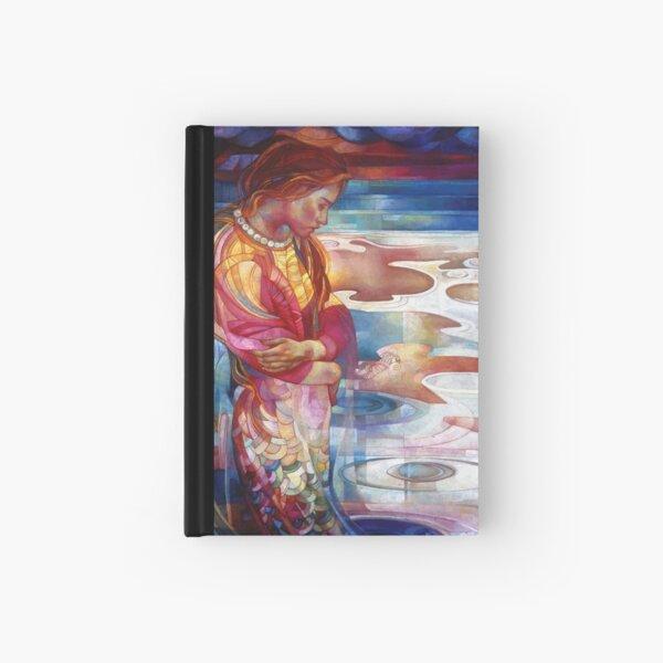 blu mermaid Hardcover Journal