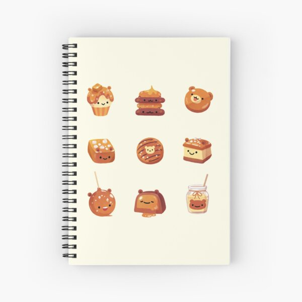 Salted caramel bear Spiral Notebook