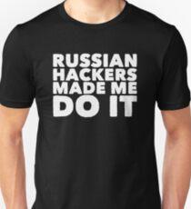 Russische Hacker ließen mich es tun - lustiger Russe Slim Fit T-Shirt
