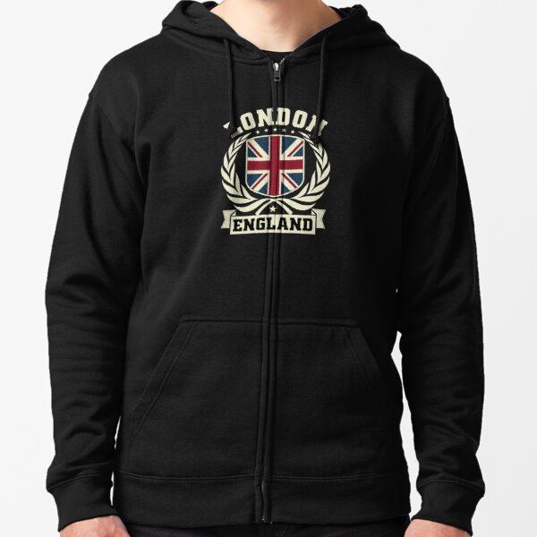 London England Zipped Hoodie