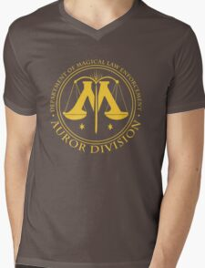 AUROR DIVISION Seal - gold - (Harry Potter) Mens V-Neck T-Shirt
