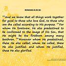 Bible Verses Card - Romans 8:28-30 by EuniceWilkie