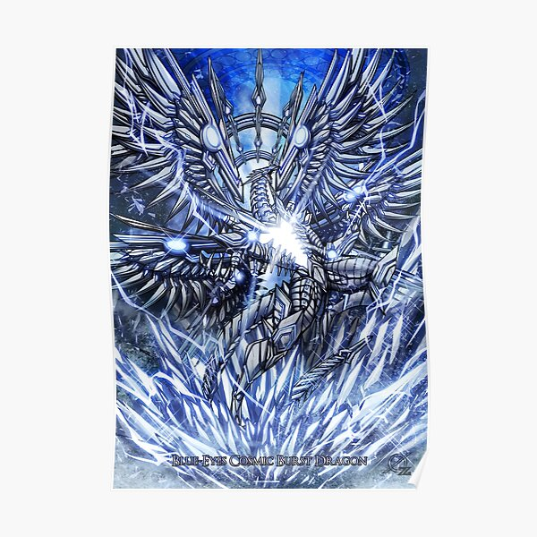 Blue Eyes Cosmic Burst Dragon Poster