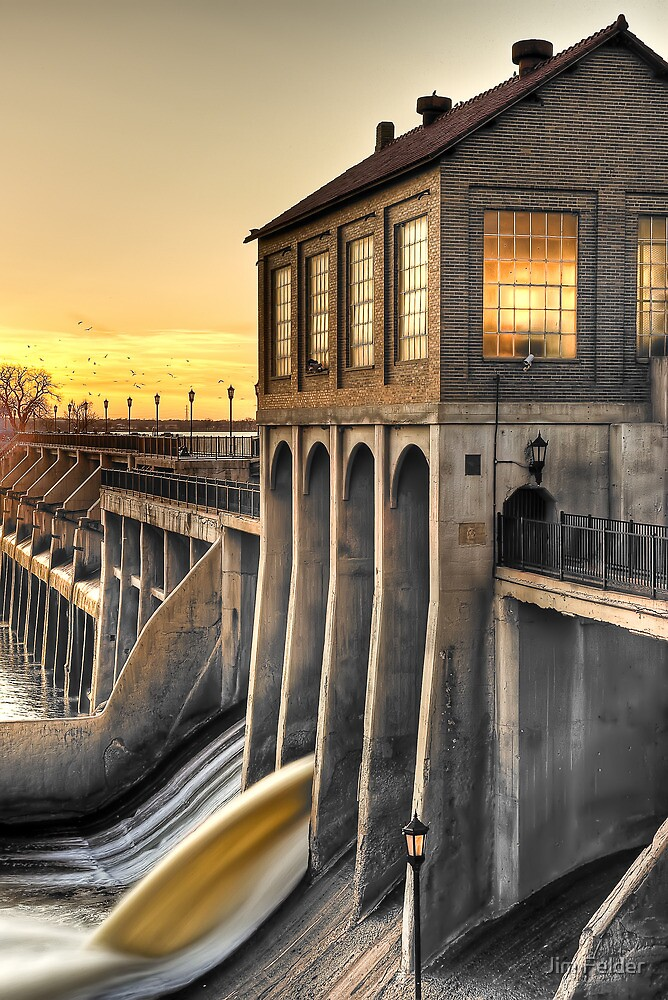 Overholser dam oklahoma city by jim felder redbubble overholser dam oklahoma city by jim felder sciox Image collections