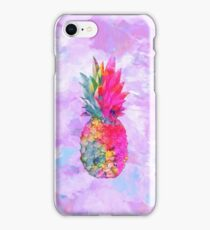 Bright Neon Hawaiian Pineapple Tropical iPhone Case/Skin