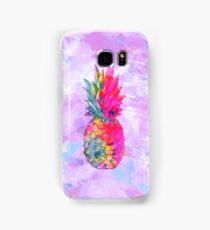 Bright Neon Hawaiian Pineapple Tropical Samsung Galaxy Case/Skin