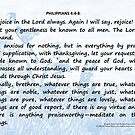 Bible Verses Card - Philippians 4:4-8 by EuniceWilkie