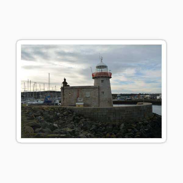 Howth Lighthouse in Winter Sticker