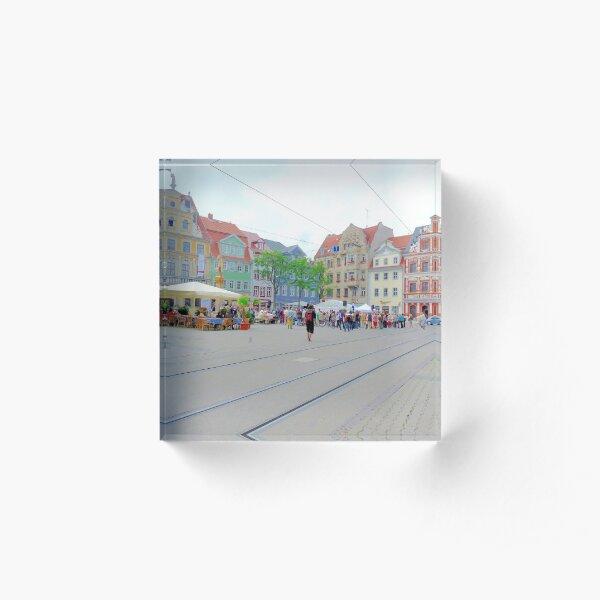 Fischmarkt, Erfurt, Thuringia, Germany Acrylic Block