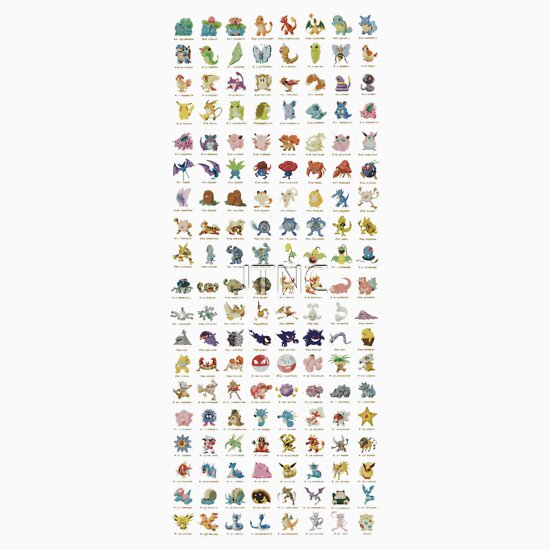 TShirtGifter presents: Pokemon First 150