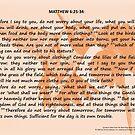 Bible Verses Card - Matthew 6:25-34 by EuniceWilkie