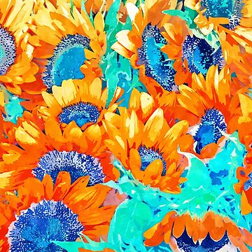 Sunflower Garden #nature #painting by 83oranges