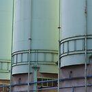 blue-green silos by fabio piretti