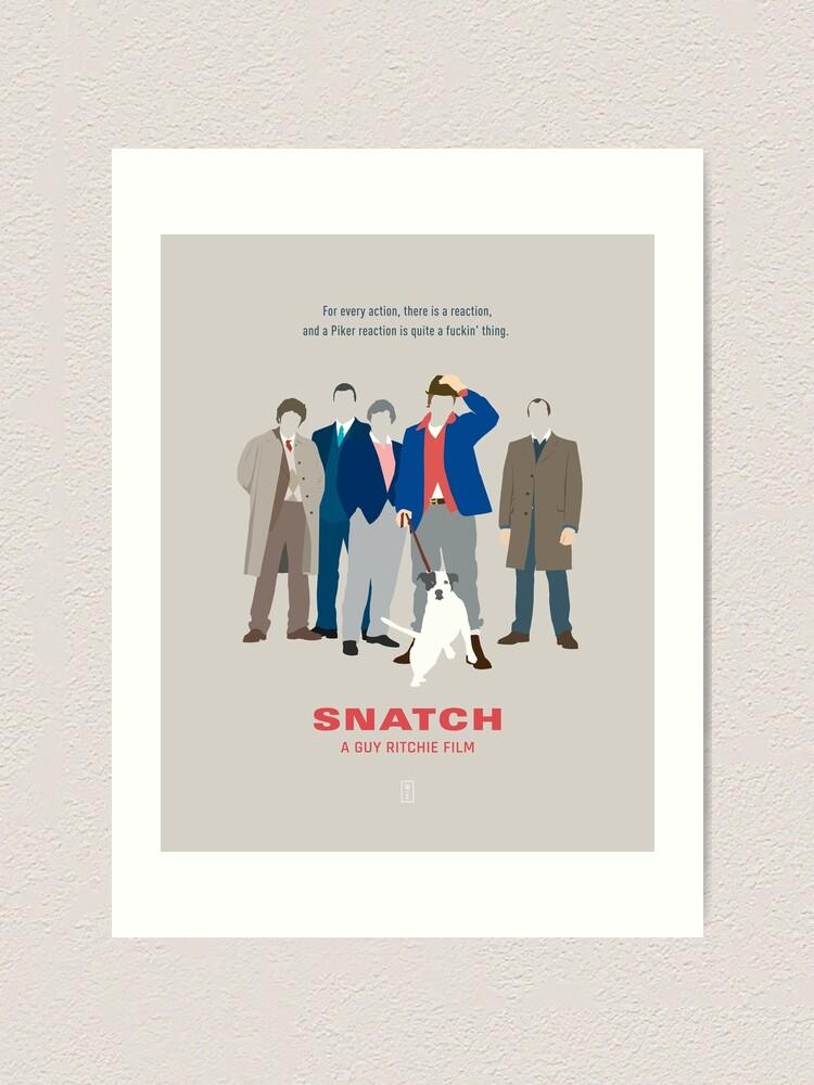 "Movie Fabric Poster 27/""x40/"" Brad Pitt Jason Statham Vinnie Jones 2000 Snatch"