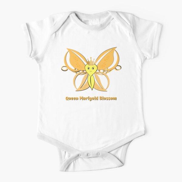 Queen Marigold Blossom Short Sleeve Baby One-Piece