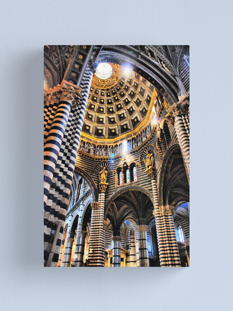 Alternate view of Siena Cathedral. Interior Canvas Print