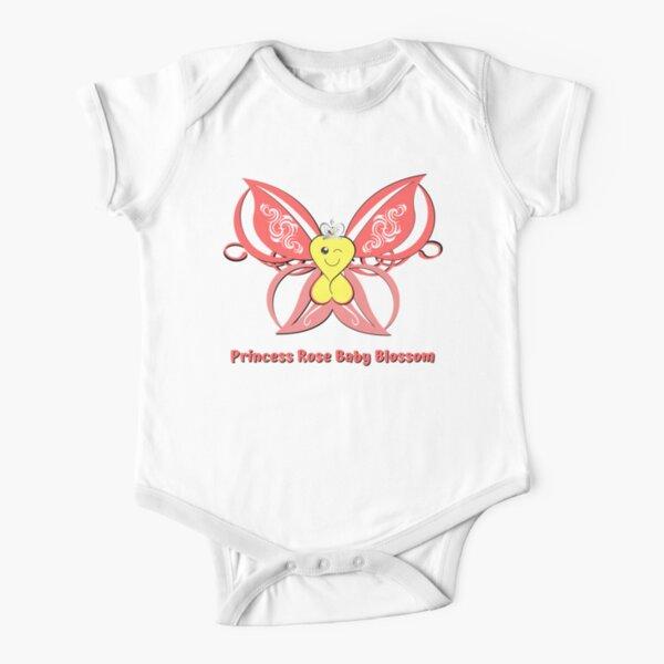 Princess Rose Baby Blossom Short Sleeve Baby One-Piece