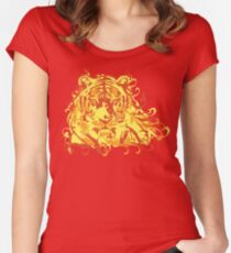 Tiger Face Women's Fitted Scoop T-Shirt