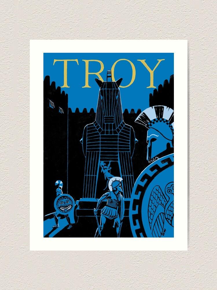Alternate view of Troy - the Trojan Horse Art Print