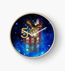 50th Anniversary Apollo 11 moon landing 1969-2019 Clock