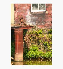 River walk found old rusted cog and chain Photographic Print