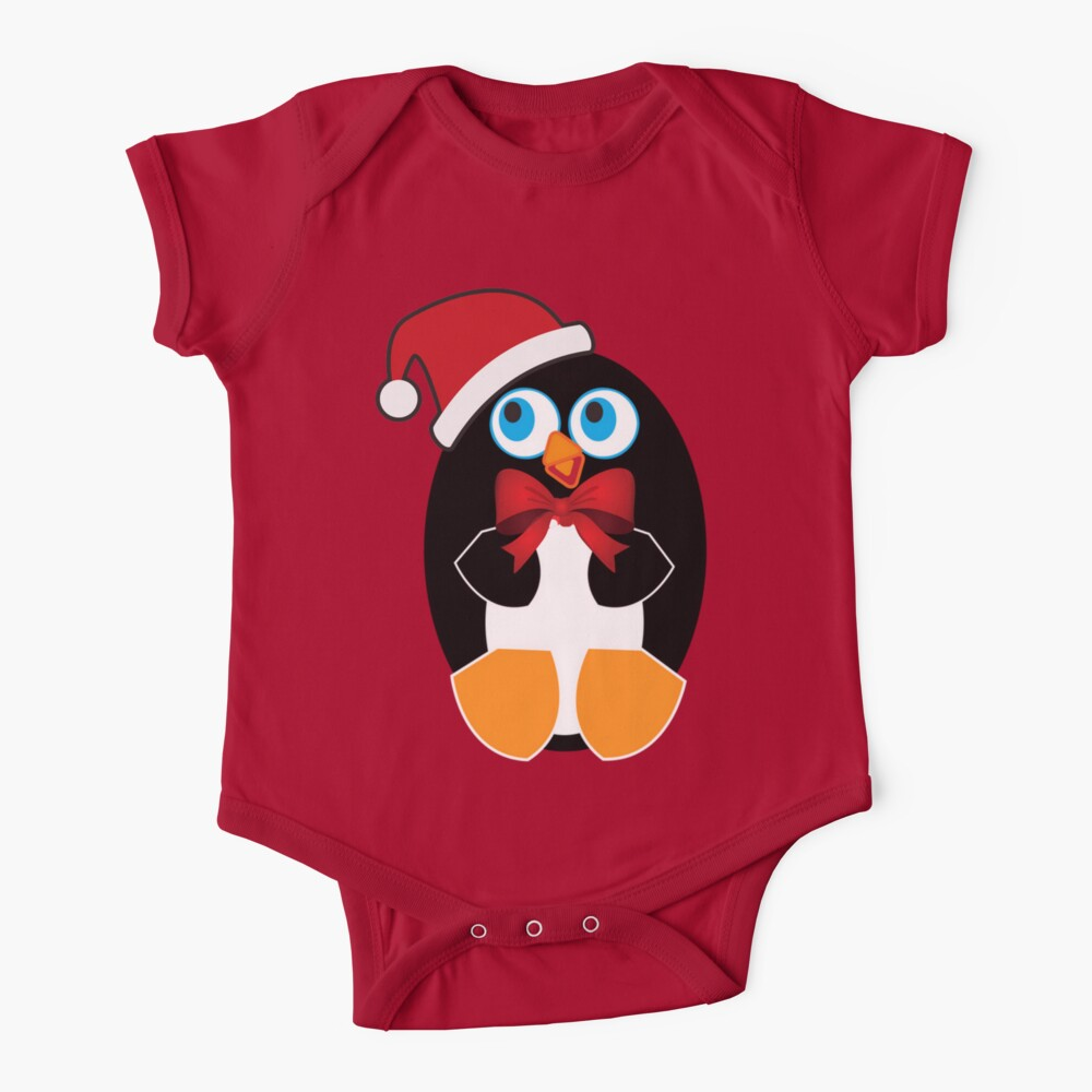 Christmas penguin with bowtie Baby One-Piece