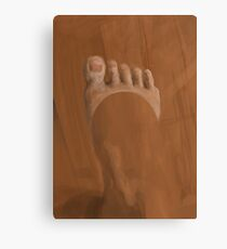 Tanned Foot Canvas Print