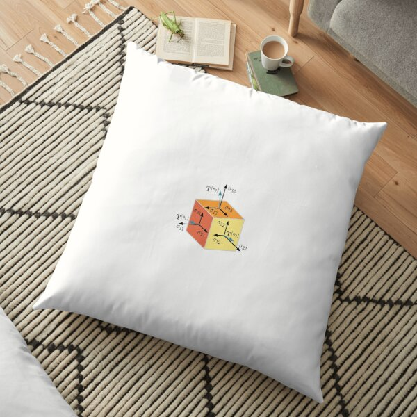 Mathematics, #Tenzor, #vector, #symbol, #diagram, number, plot, mathematics, geometric Floor Pillow