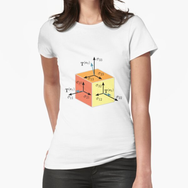 Tenzor, vector, symbol, diagram, number, plot, mathematics, geometric, vectors, scalars, tensors, Physics, engineering, applications, dual space, vector space, Geometric, coordinate, system Fitted T-Shirt