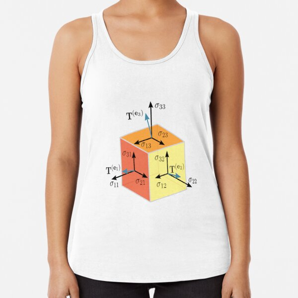 Tenzor, vector, symbol, diagram, number, plot, mathematics, geometric, vectors, scalars, tensors, Physics, engineering, applications, dual space, vector space, Geometric, coordinate, system Racerback Tank Top