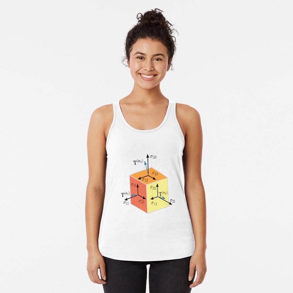 Tenzor, vector, symbol, diagram, number, plot, mathematics, geometric, vectors, scalars, tensors, Physics, engineering, applications, dual space, vector space, Geometric, coordinate, system Racerback Tank Top