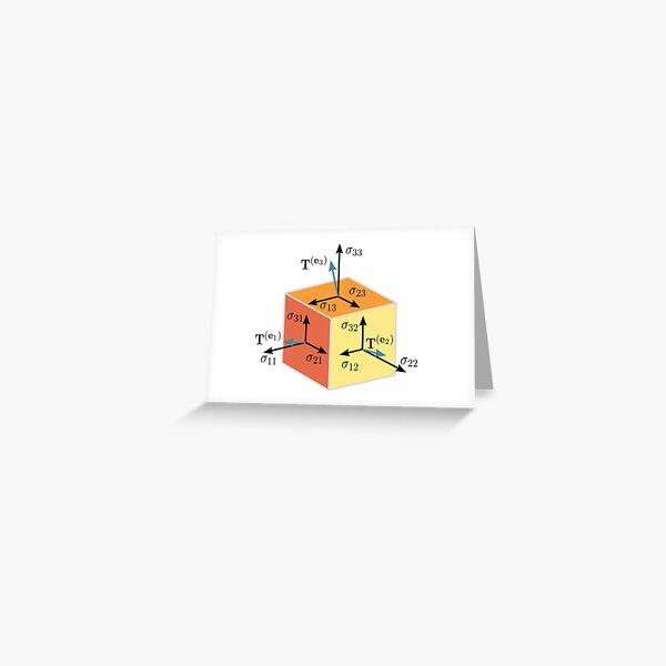 Tenzor, vector, symbol, diagram, number, plot, mathematics, geometric, vectors, scalars, tensors, Physics, engineering, applications, dual space, vector space, Geometric, coordinate, system Greeting Card