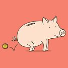 Piggy bank by Milkyprint