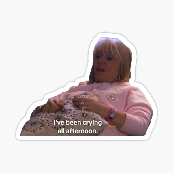 Pam Shipman Crying All Afternoon Gavin & Stacey Sticker