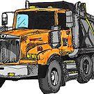 «Construcción del conductor del camión volquete naranja» de Statepallets