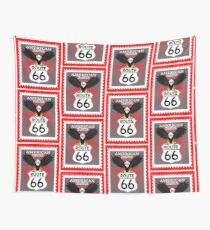 Route 66 American Tradicion, Route 66 sign  Wall Tapestry