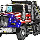 «Camión volquete americano de Estados Unidos» de Statepallets