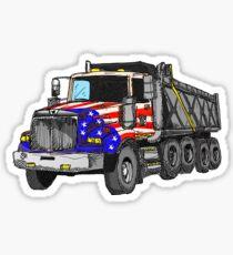Pegatina Camión volquete americano de Estados Unidos