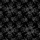 Skelett Hand Muster von jazzieart