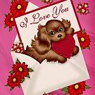 Valentines Puppy Love by LoneAngel