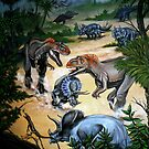 Double Dinosaur Hunt by maryannart-com