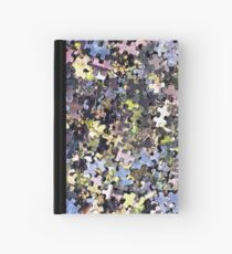 Puzzle Pieces Abstract Hardcover Journal
