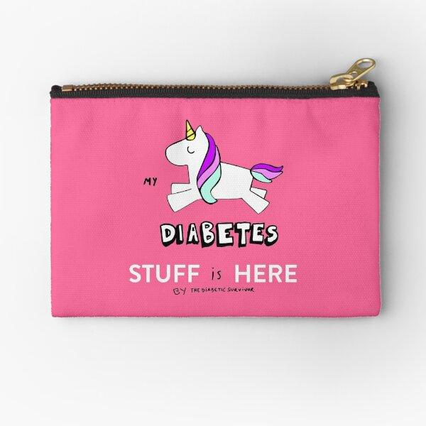 My DIABETES stuff is here Zipper Pouch