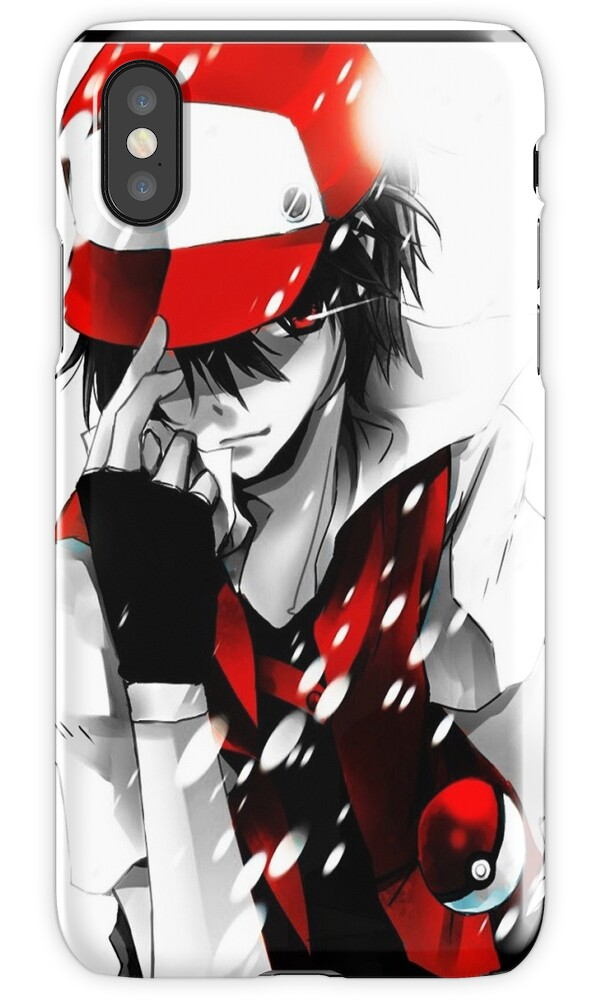 pokemon red for iphone quot anime trainer quot iphone cases amp covers by 15876